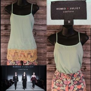 3/30 * Lace Trimmed Cami by Romeo + Juliet Couture